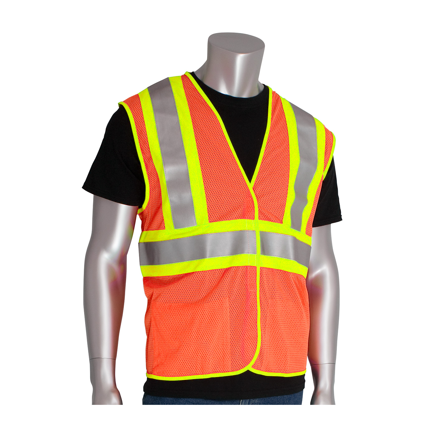PIP® ANSI Type R Class 2 FR Treated Two-Tone Mesh Vest #305-MVFR