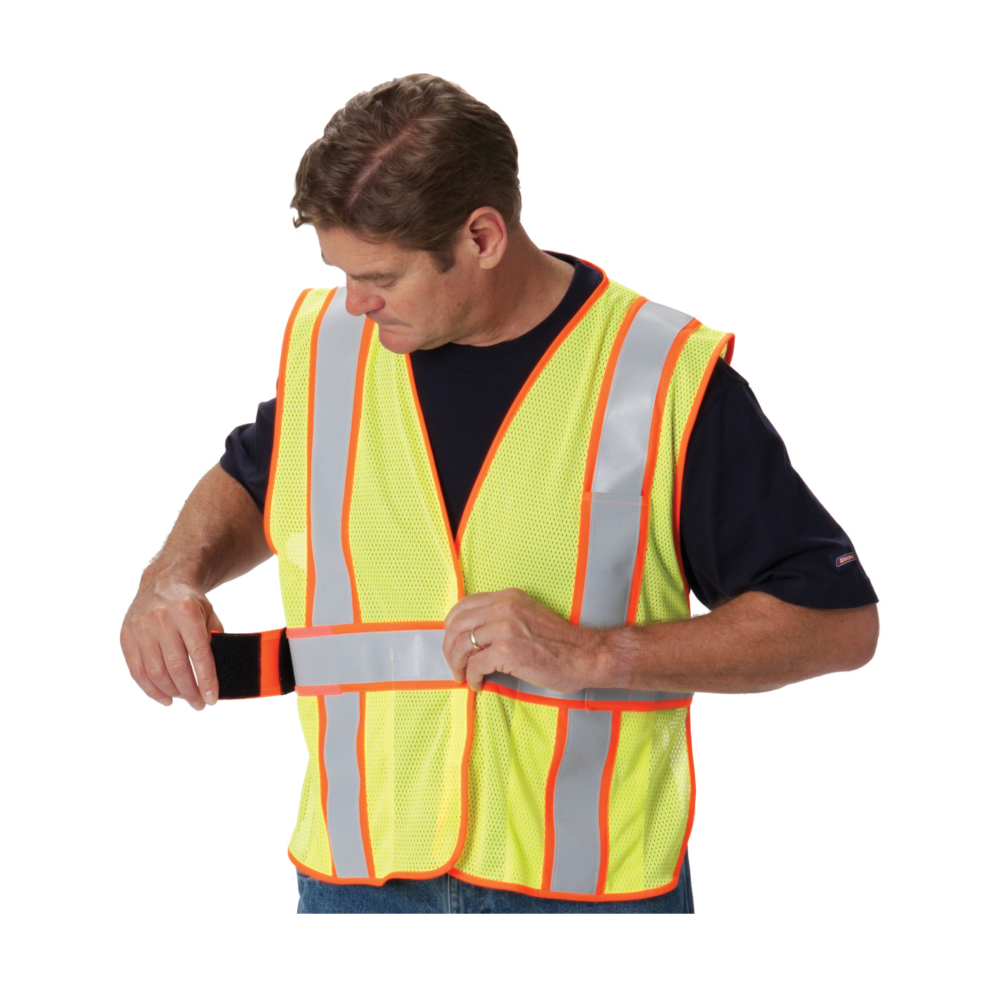 PIP® ANSI Type R Class 2 Two-Tone Expandable FR Treated Mesh Vest #305-USV5FR (adjustable sides)