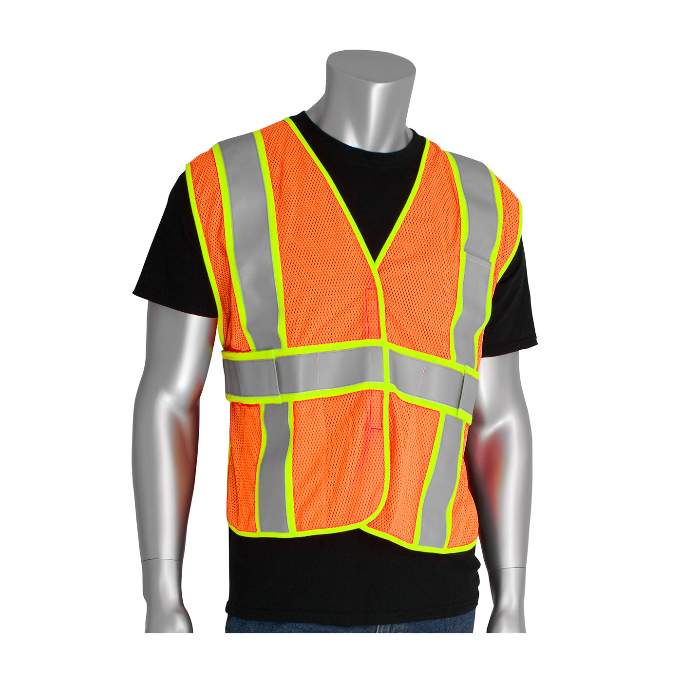 PIP® ANSI Type R Class 2 Two-Tone Expandable FR Treated Mesh Vest #305-USV5FR