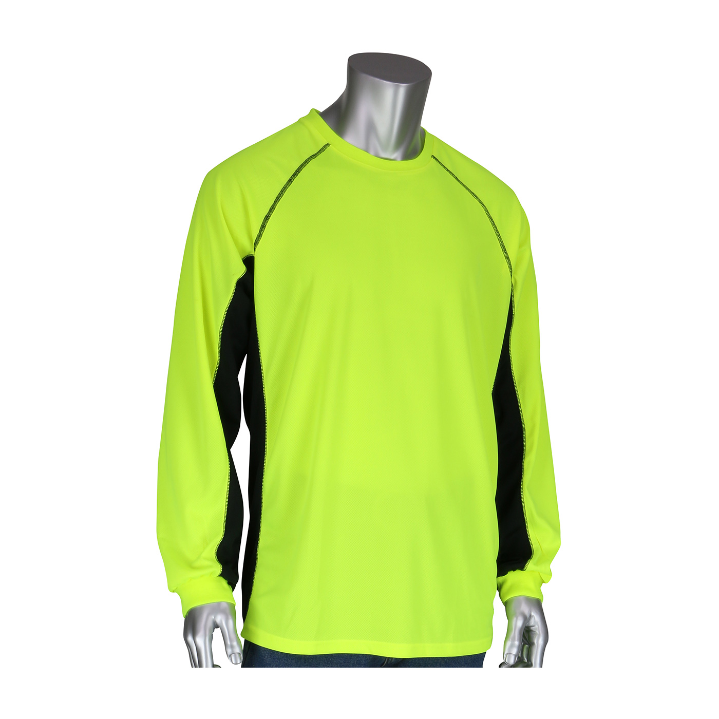 PIP® Non-ANSI Long Sleeve T-Shirt with 50+ UPF Sun Protection, Insect Repellent Treatment and Black Trim #310-1150B