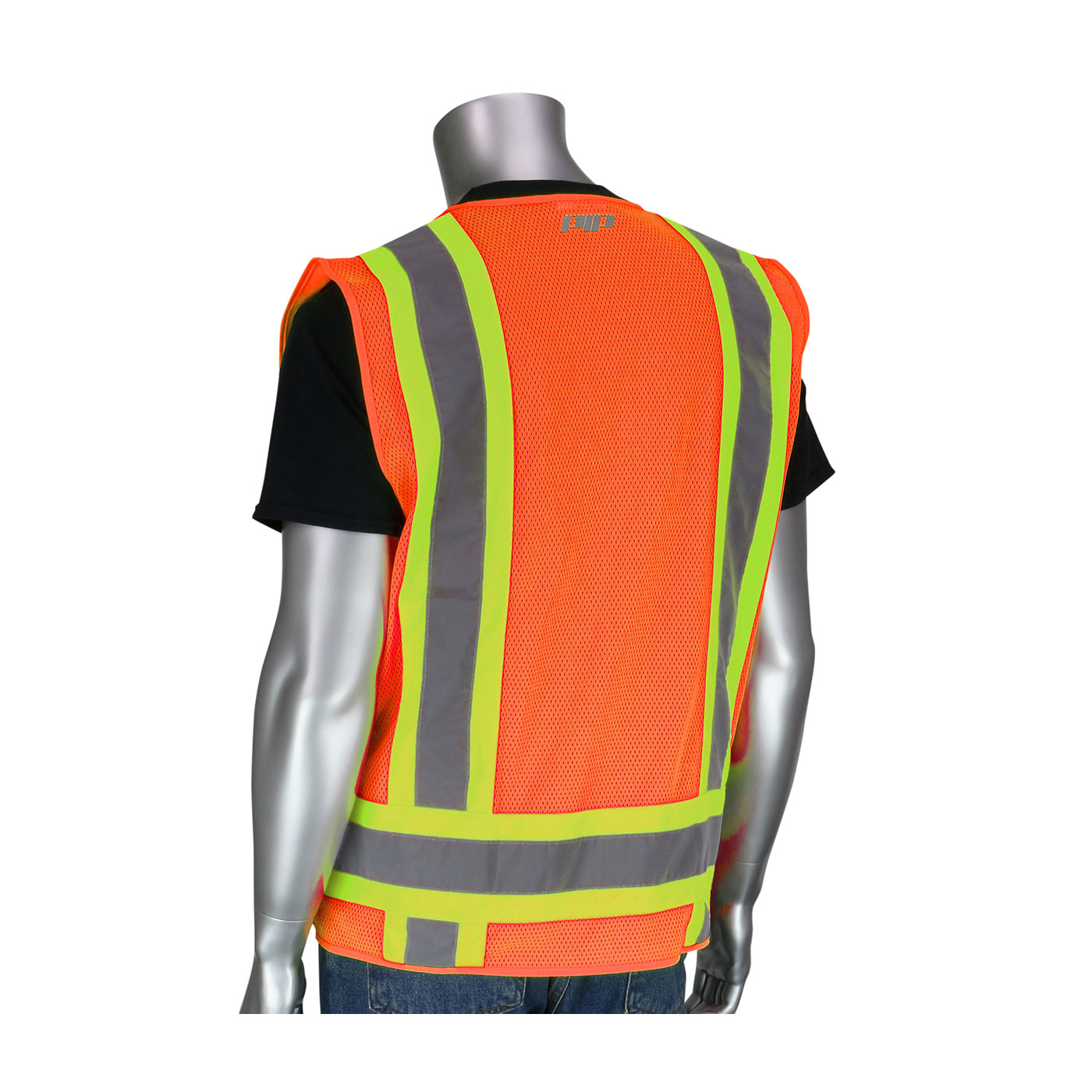 PIP® ANSI Type R Class 2 Two-Tone Eleven Pocket Surveyors Mesh Vest #302-0500M-OR