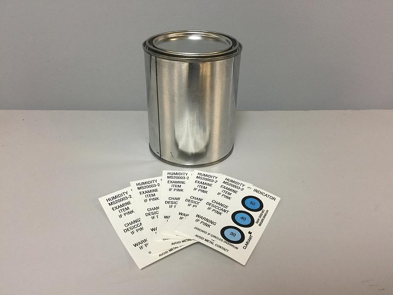 Humidity Indicator Cards in Resealable Cans