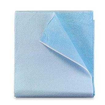 #951939 Tidi® Blue Disposable Heavy Tissue/Poly Stretcher Drape Sheets - 40` x 72`
