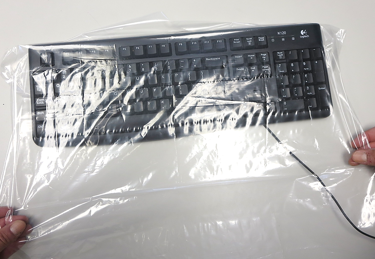 Disposable Keyboard Cover, PS400 Plasdent Clear Protection® Disposable Protective Computer Keyboard Covers