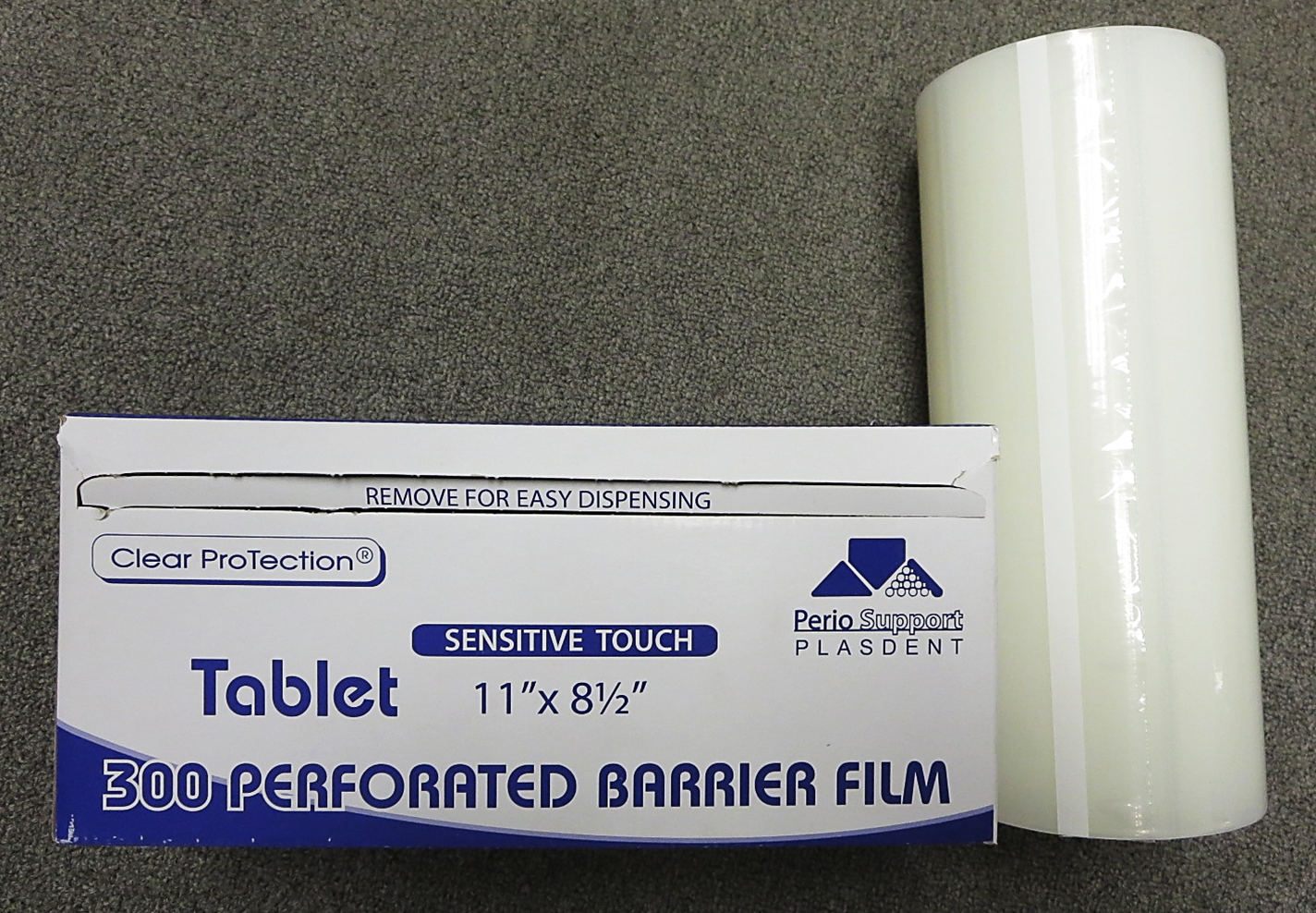 Clear 11-in x 8-1/2-in Adhesive Tablet Barrier Film