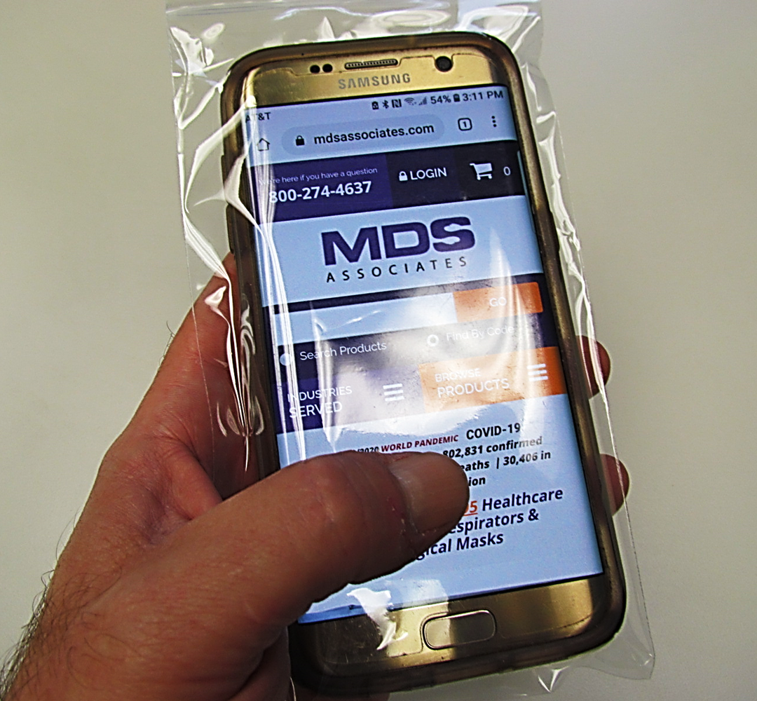 MDS Premium Disposable Reclosable Protective Poly Cell Phone Barrier Covers