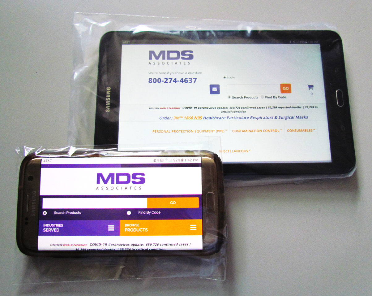 Disposable High Clarity 1.5 Mil Poly Infection-Control Laptop/Tablet/Cell Phone Covers with Resealable 1-1/2` Lip Closure