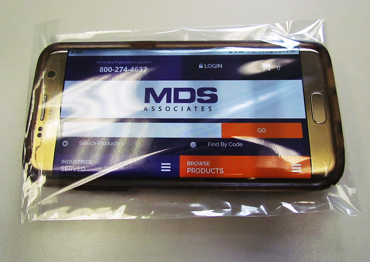 MDS Disposable Protective Poly Cell Phone Covers w/ Resealable Lip Closure