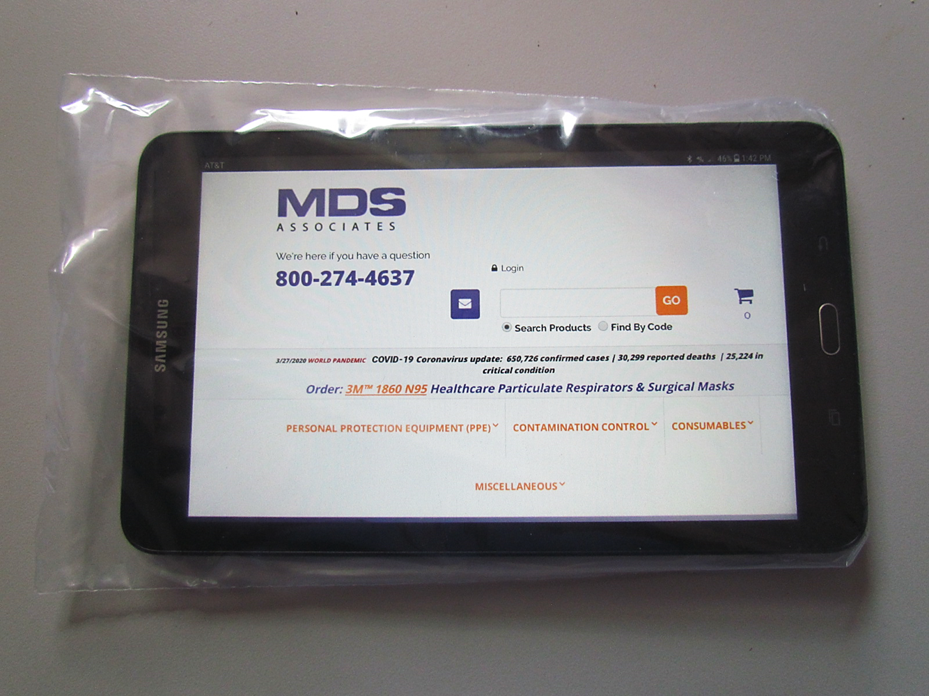 MDS Disposable Protective Poly Tablet Covers w/ Flap-Lock