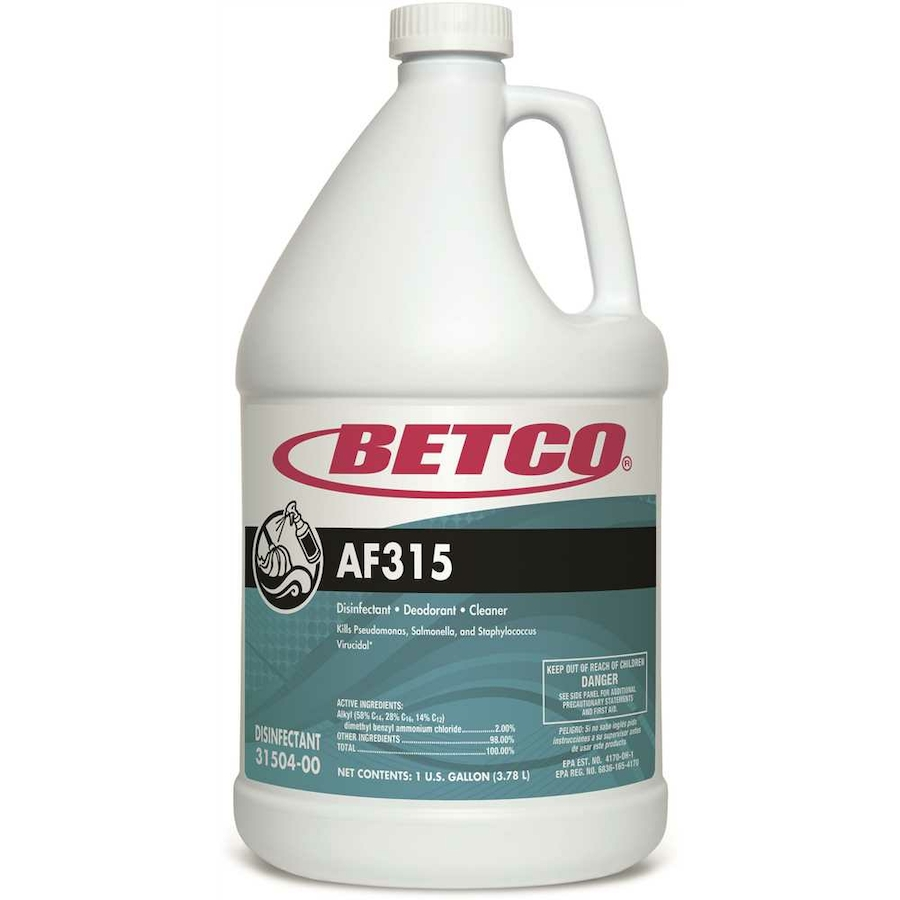 AF315 Betco 1-Gal Blue/Green Neutral PH Disinfectant, Detergent and Deodorant