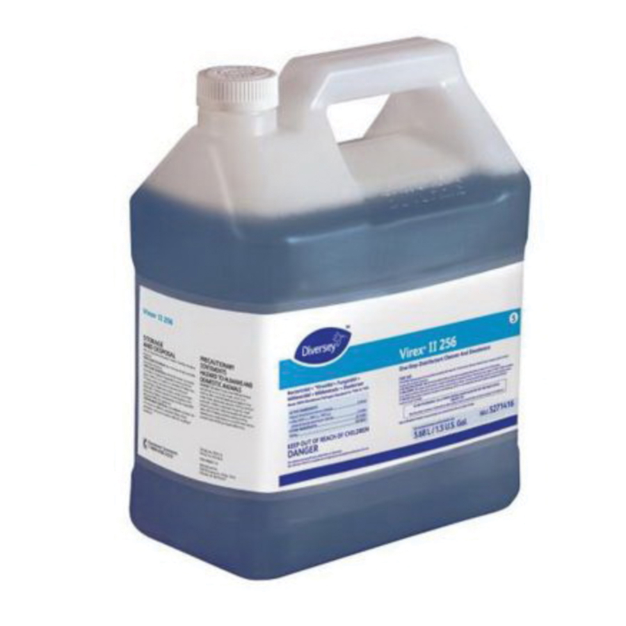 5271416 Oxivir® Virex® II 256 Disinfectant Cleaner is a one-step, quaternary-based disinfectant cleaner concentrate