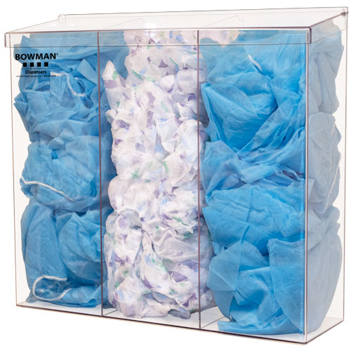 BK213-0111 - Clear PETG Plastic Tall 3 Compartment Bulk Dispenser - Top Dispensing
