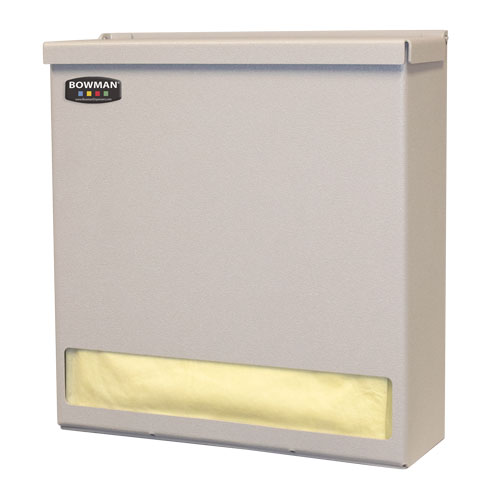 GN001-0212: Bowman® Quartz Beige Injection Molded ABS Plastic Glove Box Dispenser with Dividers