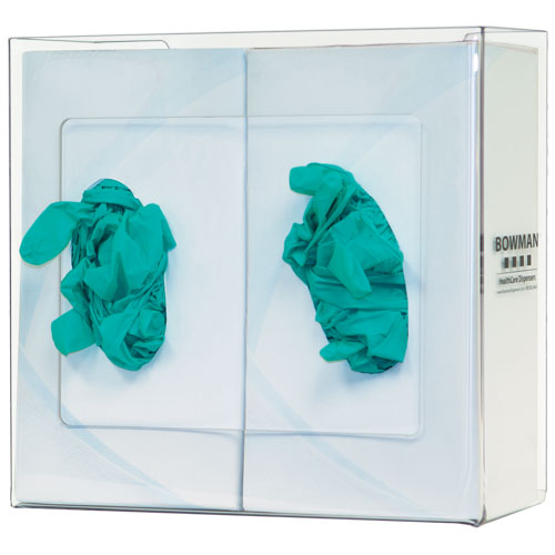 GP-014: Bowman Clear PETG Double Glove Box Dispenser