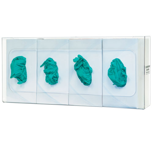 GP-061 : Bowman® Clear PETG Plastic Quad Glove Box Dispenser