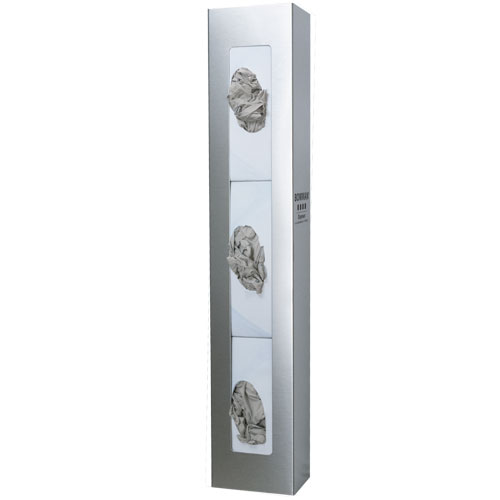 GS-109 Bowman® 20 Gauge Stainless Steel Triple Space Saver Glove Dispenser