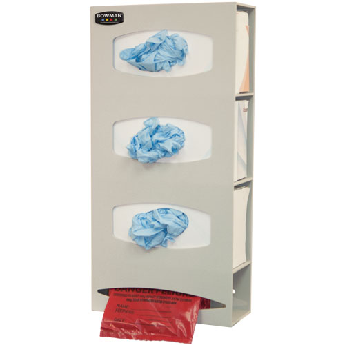 PS004-0212 Bowman® Quartz Beige ABS Plastic Bag & Glove on Demand Dispenser