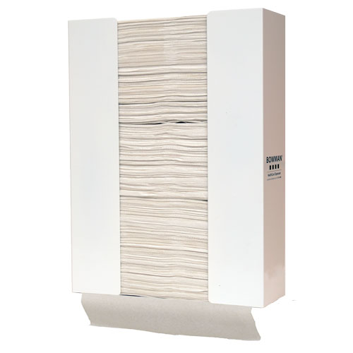 TB-003 Bowman White Powder-Coated Towel Dispenser