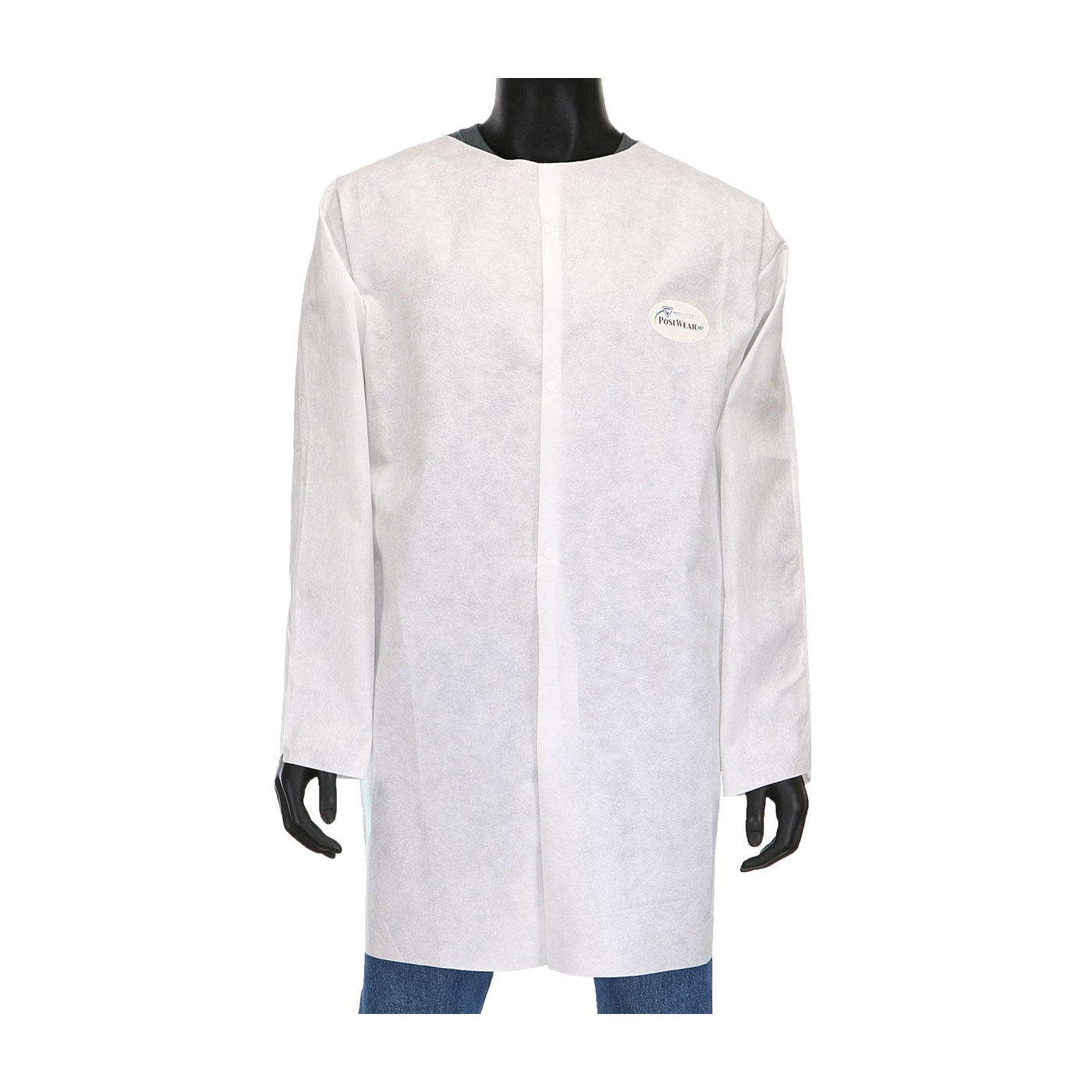 C3818 PIP® / West-Chester® Posi-Wear® M3 Snap White Limited-Use Lab Coats with No Pockets