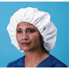 Keystone® Dupont Tyvek® Bouffant Cap/Head Covers in 21` and 24` sizes