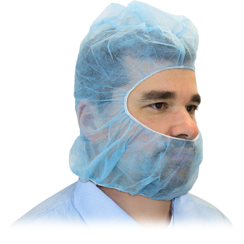 #DHOOD-2000 Safety Zone® Disposable Blue Polypropylene Anti-Spit Hoods