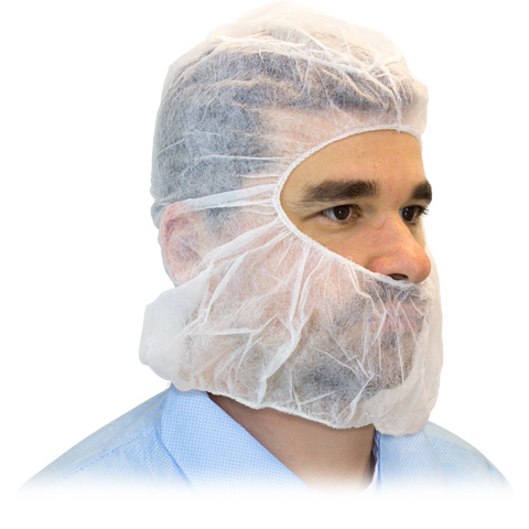 Safety Zone® White Anti-Spit Hoods