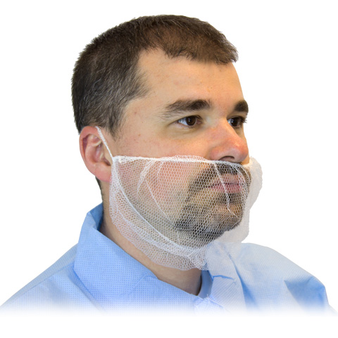 #DPBC-1000 Disposable White Polyester Mesh Beard Covers
