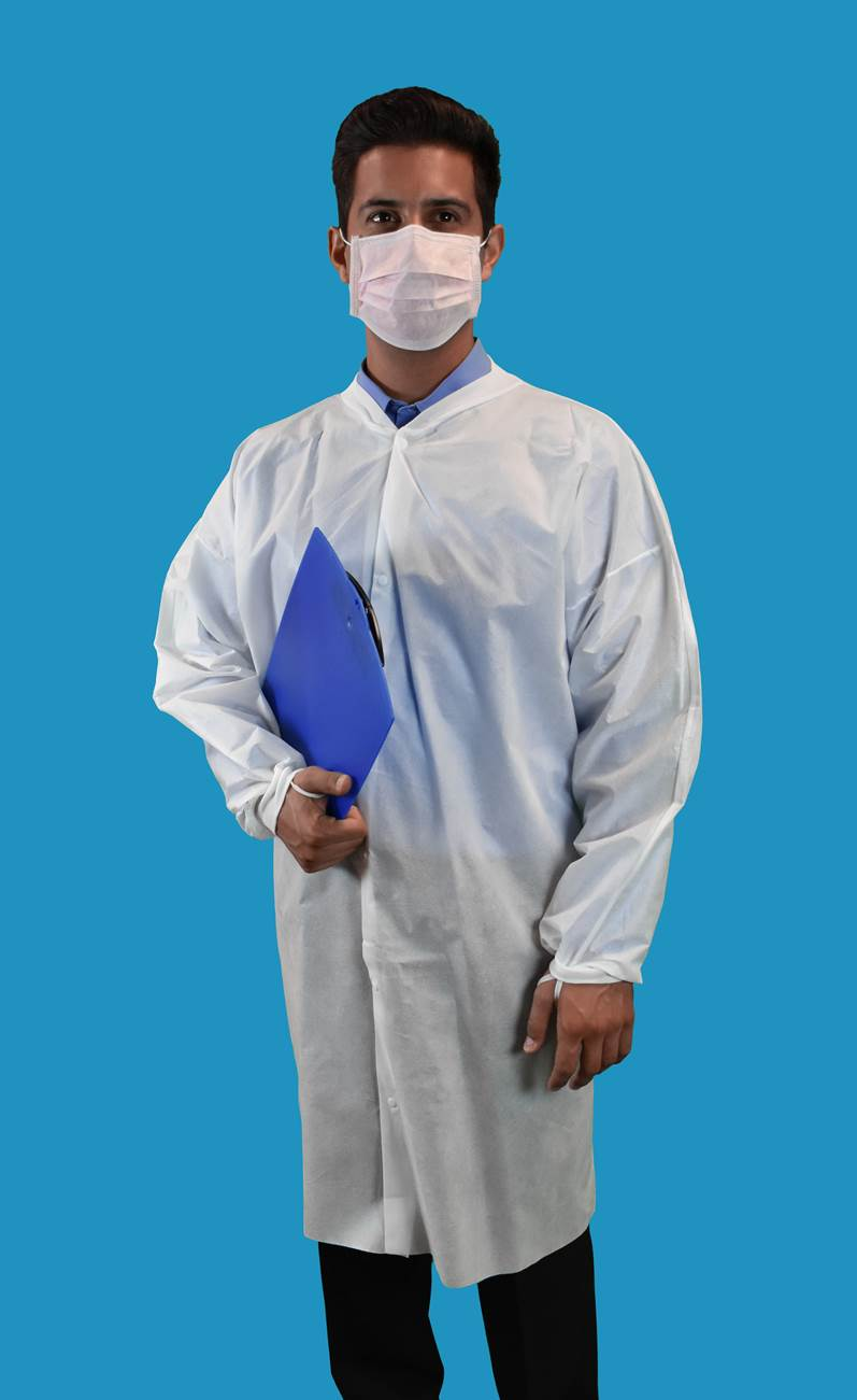 #CEF0-WK-SMS Keystone SMS No Pocket Disposable Cleanroom Frocks