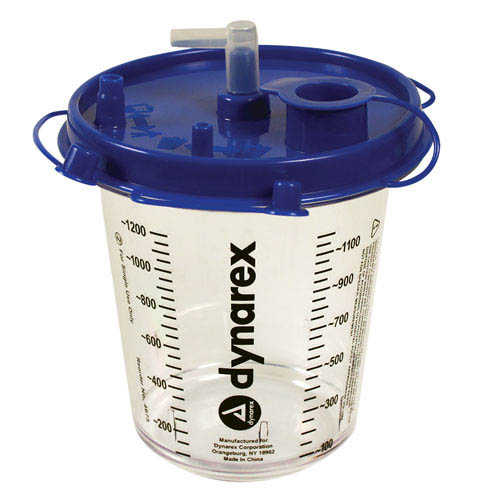 4675 Dynarex® DynaVac 1200cc EMS Suction Canister (Hi-Flow) with lid
