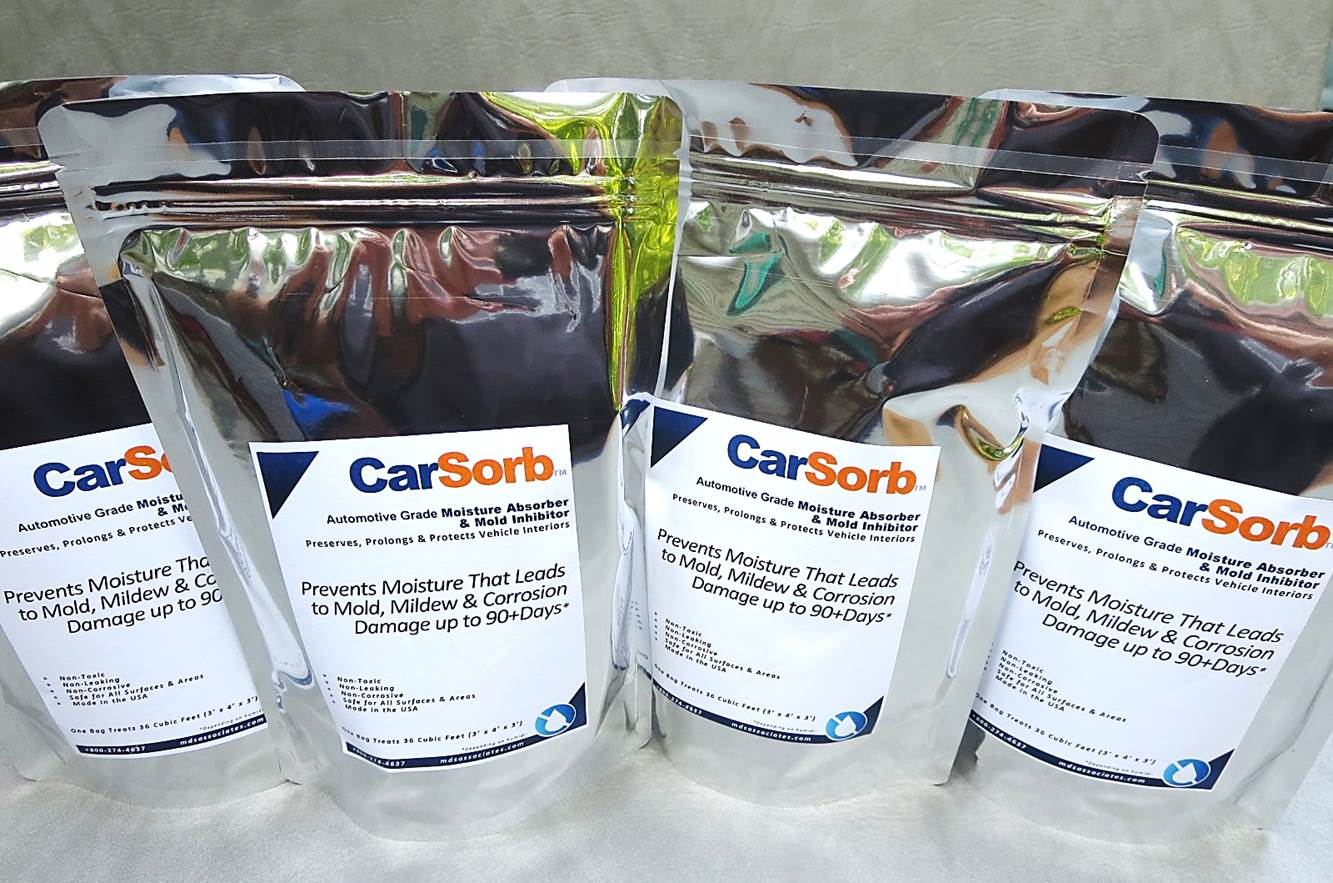 CarSorb Commercial Moisture Control Mold Prevention Pouches for Automotive Interiors