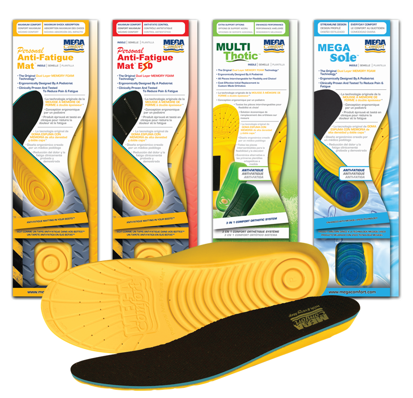 MEGAComfort® Insoles | Anti-Fatigue Product Line