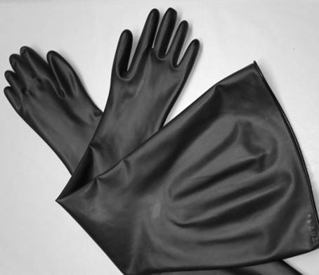 8B1532 Guardian® Manufacturing 15-mil Butyl Glovebox Gloves - 8 inch port