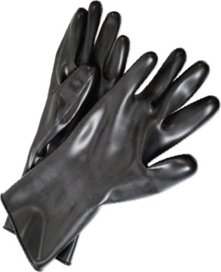 Guardian Smooth Curved Hand Butyl Gloves - 5 mil