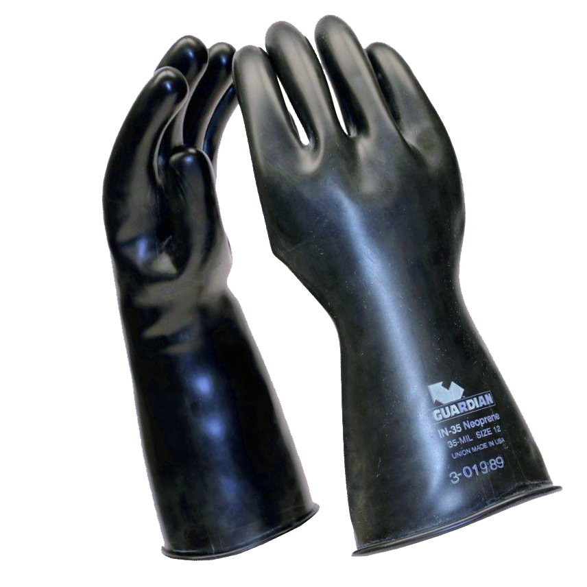 Guardian Smooth Curved Hand Neoprene Gloves - 35 mil