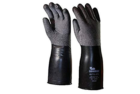 #CP-7R Guardian Rough Curved Hand Butyl Gloves - 7 mil