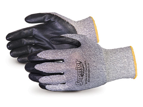 S13SXGNT Superior Glove® Superior Touch® Cleanroom 13-Gauge Knit Cut & Puncture Resistant Gloves w/ Dyneema® and Nitrile Palms