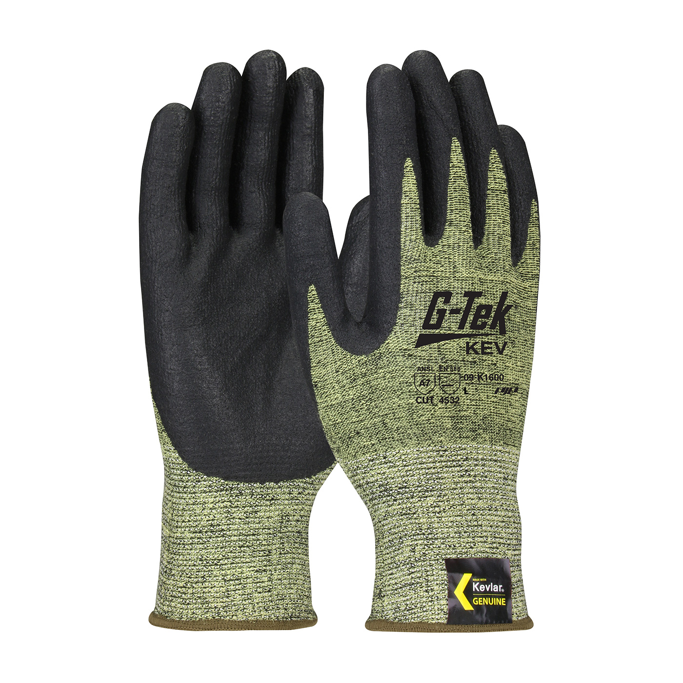 09-K1600 PIP® G-Tek® Kev™ 13-Gauge Kevlar® Nitrile Coated Seamless Knit Gloves