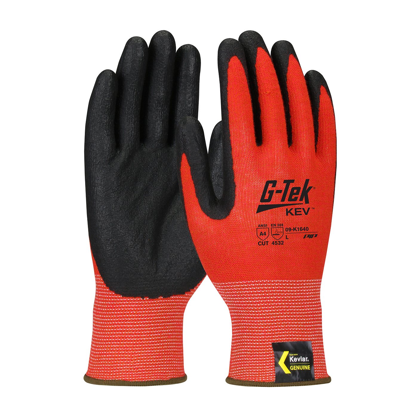 09-K1640 PIP® G-Tek® 13-Gauge Kev™ Foam Nitrile Coated Gloves