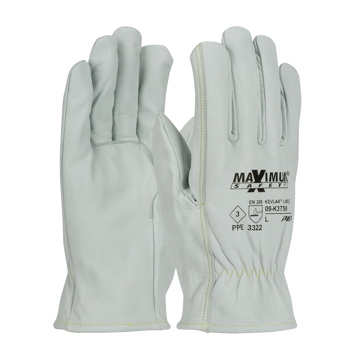 #09-K3750 PIP® Maximum Safety® AR/FR Top Grain Goatskin Leather Glove with Kevlar® Liner - Straight Thumb