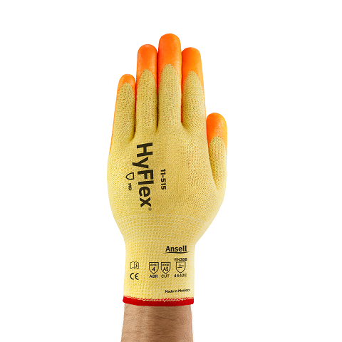 Ansell® HyFlex® 11-515 Hi-Viz Palm Coated Kevlar Gloves