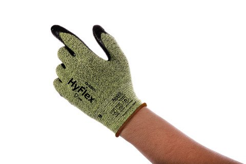 Ansell® HyFlex® #11-550 Foam Nitrile Coated A2 Cut-Resistant Work Gloves with INTERCEPT