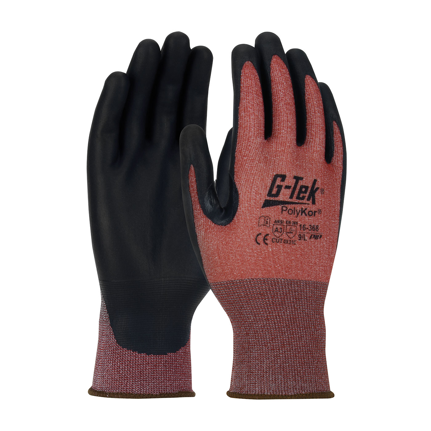 PIP G-Tek® PolyKor® X7™ Seamless Knit PolyKor® X7™ Blended Glove with NeoFoam® Coated Palm & Fingers - Touchscreen Compatible #16-368