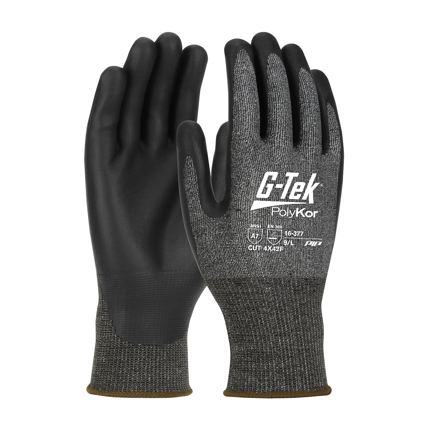 PIP G-Tek® PolyKor® X7™ Seamless Knit PolyKor® X7™ Blended Glove with NeoFoam® Coated Palm & Fingers - Touchscreen Compatible #16-377