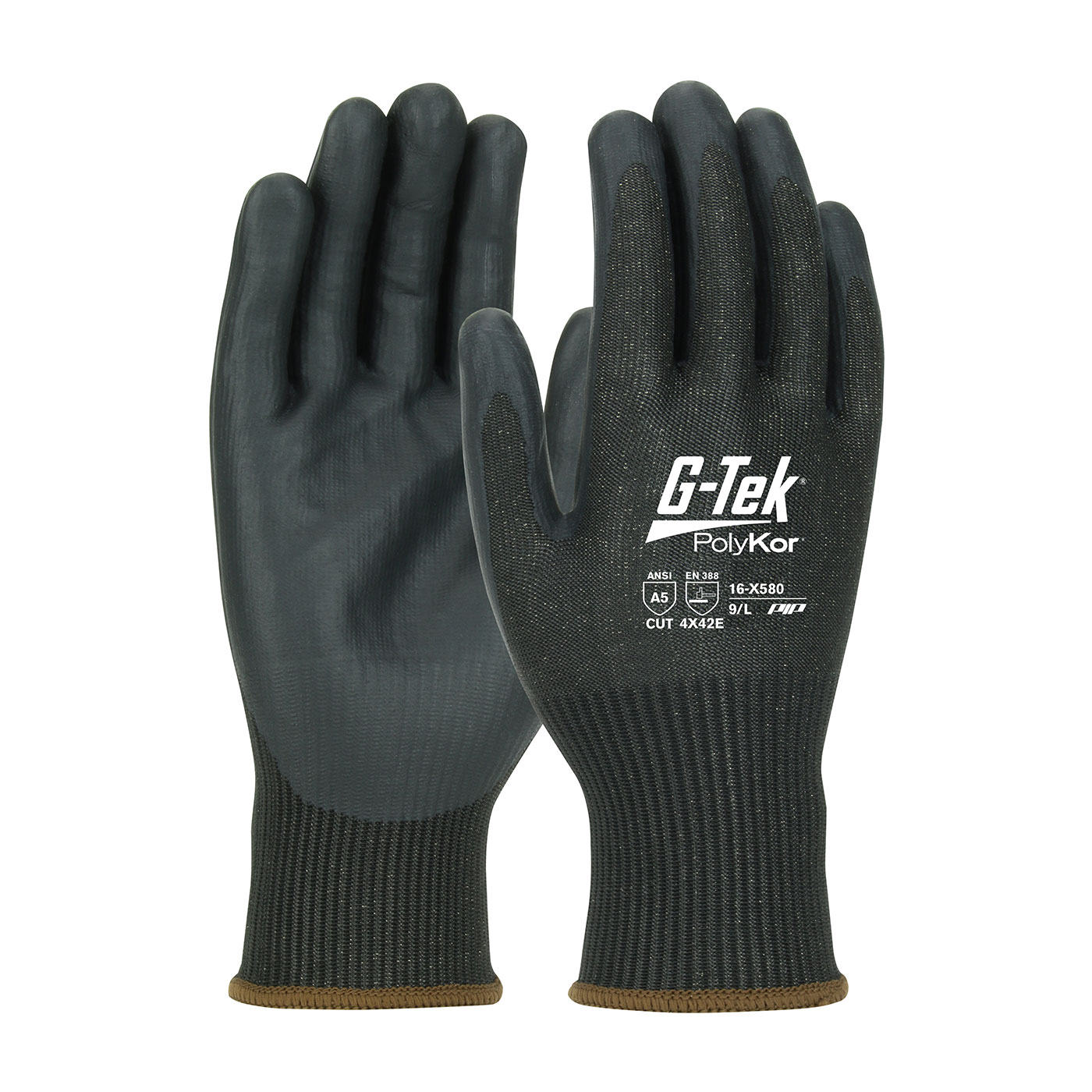 #16-X580 PIP® G-Tek® PolyKor™ Xrystal™ NeoFoam™ Coated Palm Knit Touchscreen compatible Gloves