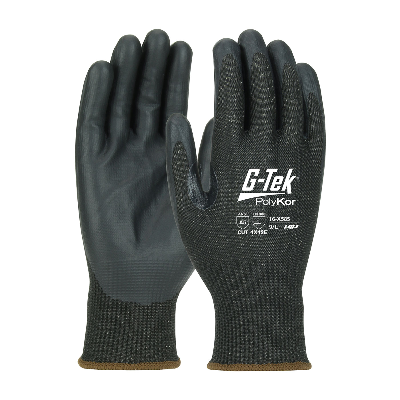 #16-X585 PIP® G-Tek® PolyKor™ Xrystal™ NeoFoam™ Coated Palm Knit Touchscreen compatible A5 Gloves