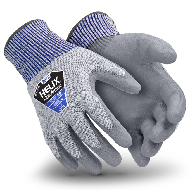 HexArmor® Helix® Blademaster® 2070 HPPE Coated Grip Gloves