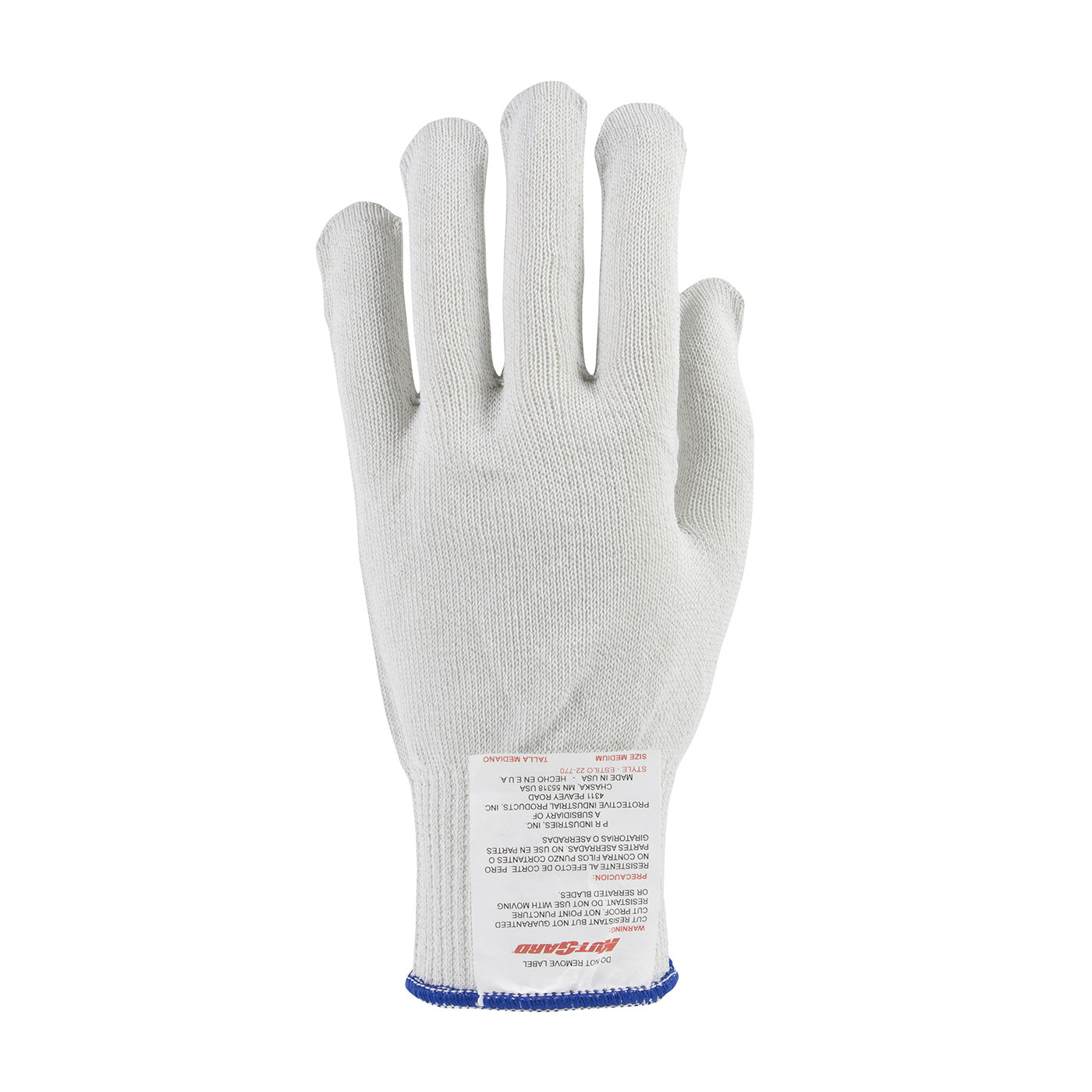 22-770 PIP® Kut-Gard® White Heavy Weight  Dyneema® A6 Cut-Resistant Antimicrobial Gloves