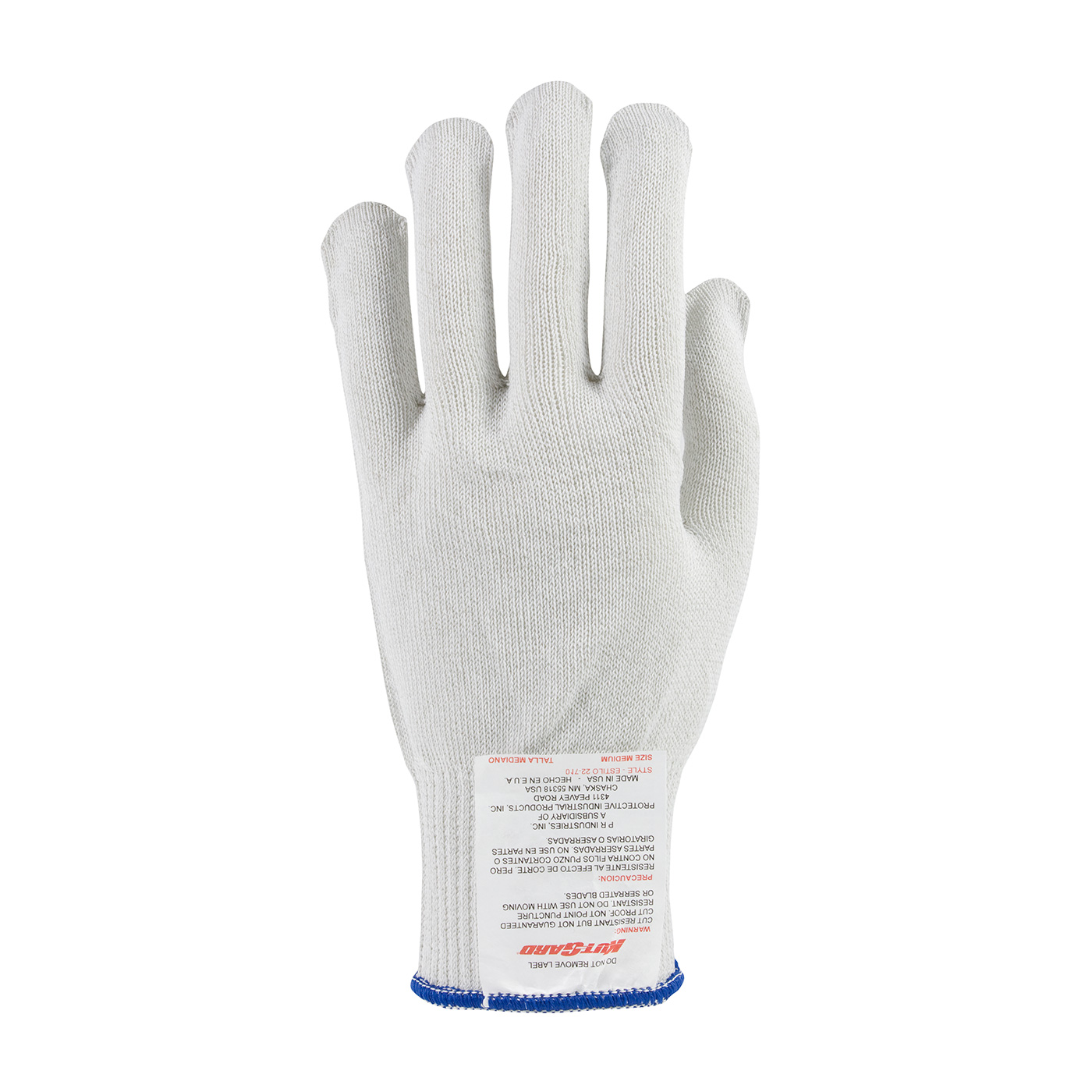 PIP #22-710  Kut-Gard® Polyester over Dyneema® / Stainless Steel Core Seamless Glove - Medium Weight
