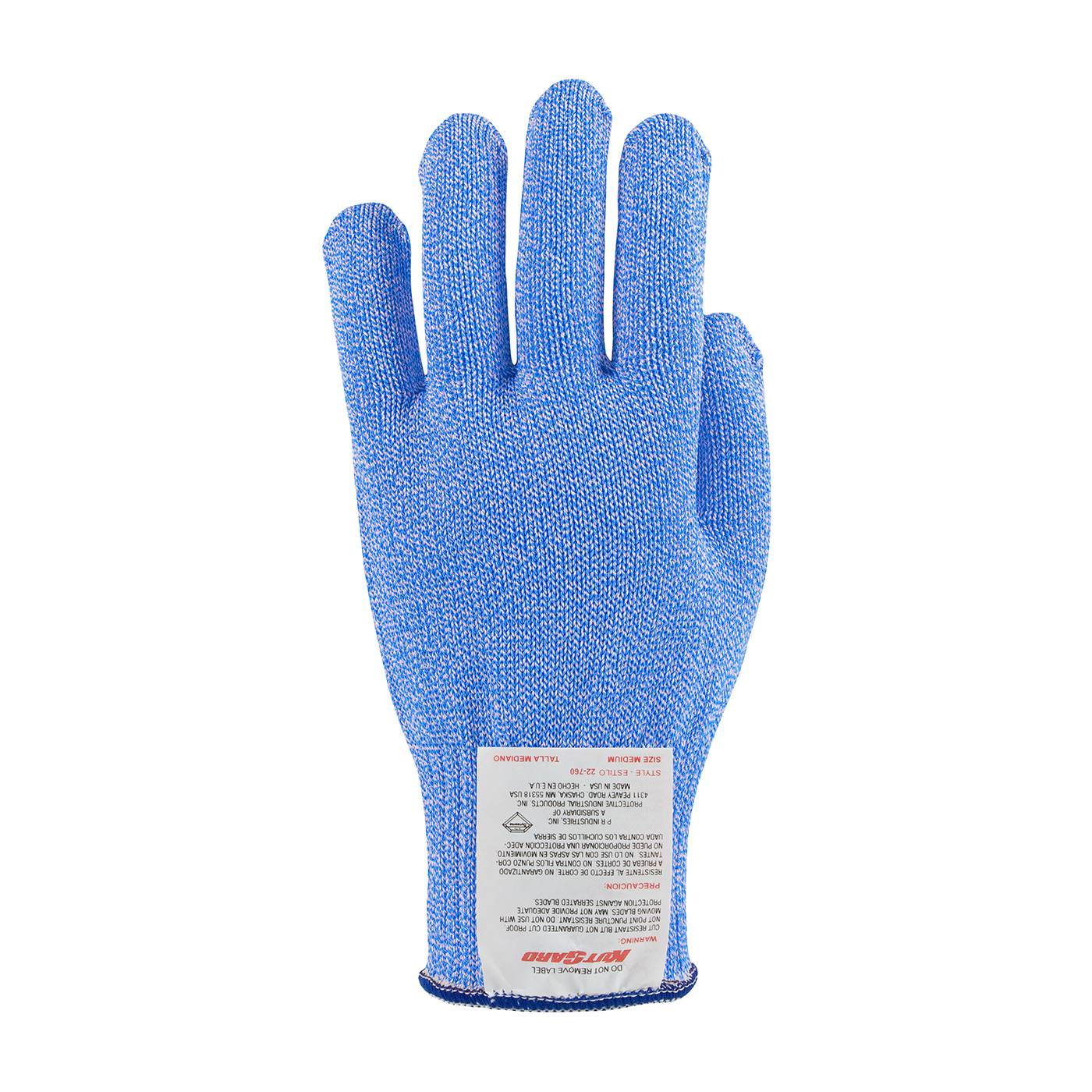 #22-760BB PIP® Bright Blue Kut-Gard® Dyneema® Blended Cut Level A7 Antimicrobial Gloves - Medium Weight