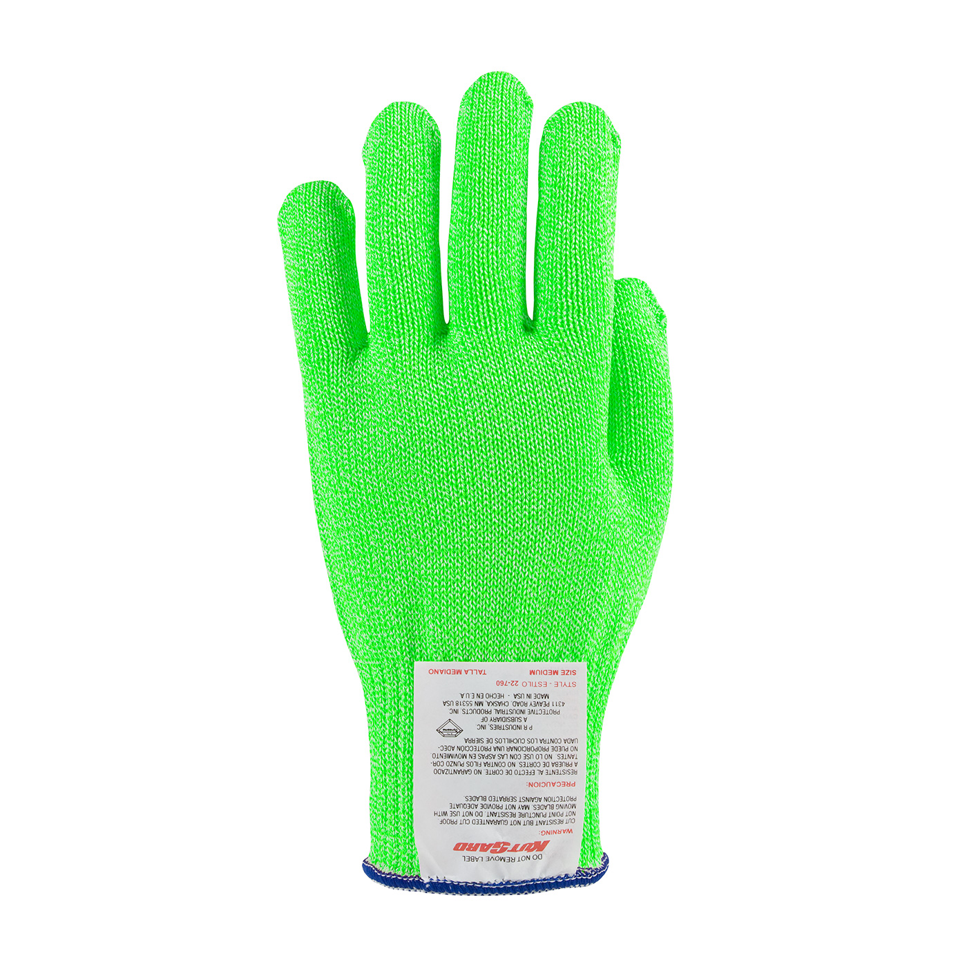 #22-760BG PIP Bright Green Kut-Gard® Dyneema® Blended Cut Level A7 Antimicrobial Glove - Medium Weight
